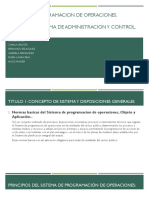 Sistema de programación de operaciones