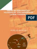 Diseño de Perforacion y Voladura en Yeso-Anhidrita en La Mina Toquepala