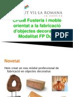 Presentació CFGM Fusta i moble