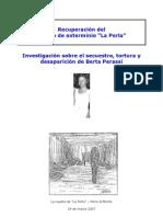 Investigacion sobre el secuestro de Berta Perassi
