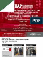 Seguridad Minera Titulo v Servicios Auxiliares
