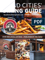 Quad Cities' Dining Guide Spring + Summer 2019