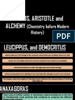 Atomos, Aristotle, And Alcheamy
