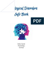 Psychological Disorders Info Book