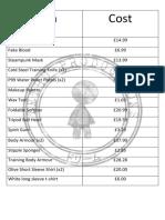 finance list