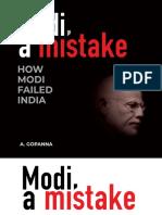 (Rafale Deal Scam) a.gopanna - Modi, A Mistake - How Modi Failed India-Surya Publications (2019)