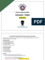 PMBA Edital Vercalizado Soldado Gratuito