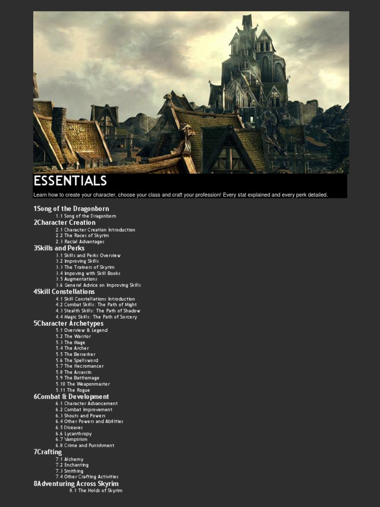The Elder Scrolls V Skyrim Prima Guide ESSENTIALS [improved