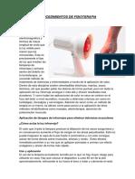 Procedimientos de Fisioterapia