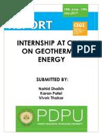 Internship at CEGE