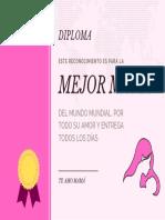 DIPLOMA PARA MAMÁ 10 DE MAYO 04