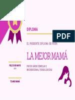 DIPLOMA PARA MAMÁ 10 DE MAYO 05