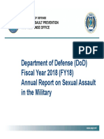 DoD Military Sexual Assault Report 2018