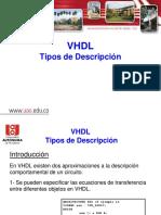 2b Tipos de Descripcion VHDL