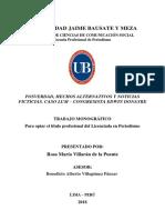 POSVERDAD, HECHOS ALTERNATIVOS Y NOTICIAS FICTICIAS. CASO LUM – CONGRESISTA EDWIN DONAYRE - 2018