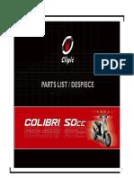 despiece clipic colibri