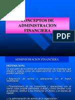 CONCEPTOS  ADMINISTRACION  FINANCIERA