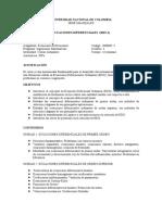 Programa Ecuaciones Diferenciales 2019p