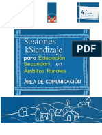 Continua - Sesiones de aprendizaje para Educación Secundaria en ámbitos rurales, área de comunicación. 4to. grado de secundaria.docx