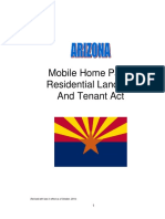 Arizona Mobile Home Parks Residential Landlord Tenant Act October2014