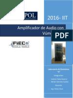 Amplificador de Audio Con Vúmetro AC