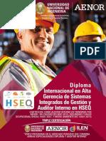 1-Diploma Internacional en Alta Gerencia de Sistemas Integrados de Gestion y Auditor Interno HSEQ