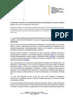 Escrito de La Asociación Española de Neuropsiquiatría 8aGl
