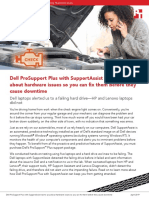 Dell ProSupport Plus with SupportAssist warns you about hardware issues so you can fix them before they cause downtime
