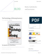 The Psychology of Winning Summary - Denis Waitley   Download PDF