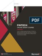 Harvard Fintech Online Short Course Brochure
