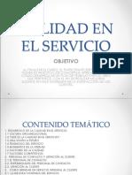 Calidad en El Servicio Servicio Al Cliente