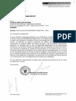 Oficio dirigido al Ministerio de Justicia Centro Juvenil Piura