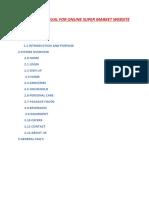 User Manual for Online Super Market Website