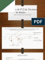Solucionario de PC2 de Mecánica de Fluidos