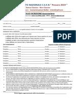 Iscrizione Asd Campionato Nazionale Csen Danza Classica 2019