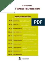 Programação - II Encontro Florestal Urbano Fazendinha.