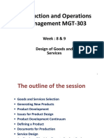 Design of Goods and Services (Week-8&9) (1)