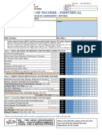 Sample Format of Individual Income Tax Return y a 2017 2018