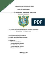 CALIDAD DEL AGUA DEL RÍO MARIÑO DEL DISTRITO Y PROVINCIA DE ABANCAY – APURÍMAC, 2018 - casifinal.docx