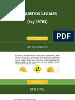 Requisitos Legales de la Ley 29783