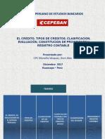 El Credito, Tipos, Provisiones y Contabilizacion 11-12-2017