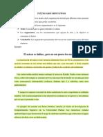 Caracteristicas Del Ensayo y 2 Ejemplos
