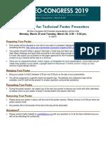 Geo Congress 2019 Poster Presenters Guidelines