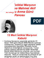 12 Mart İstiklal Marşının Kabulü Ve Mehmet Akif Ersoy'u Anma Günü Panosu