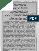 Camara Petrolera optimista inversiones de este año - Diario Panorama 02.01.1987