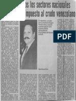 Edgard Romero Nava LLamado a Todos Los Sectores Nacionales Para Impedir Impuesto Al Crudo Venezolano