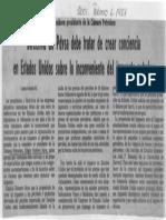 Edgard Romero Nava PDVSA Debe Crear Conciencia en EEUU Sobre Inconveniente Del Impuesto Petrolero - Diario 2001 06.02.1987