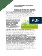 Ensayo Impactos Sociales Del Desarrollo Sustentable