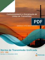 NTU 006 Comissionamento e Energizacao de Linhas de Transmissao