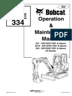 Bobcat 331 Operacion y Mantenimiento.pdf